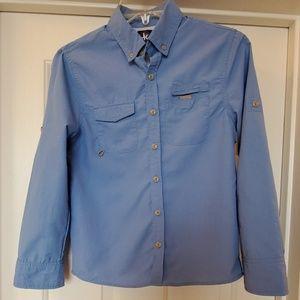 J Khaki Boys Outdoorsman Vented Campshirt Sz M